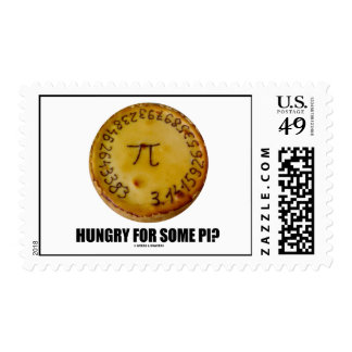 Hungry For Some Pi? (Pi On A Pie) Postage Stamp