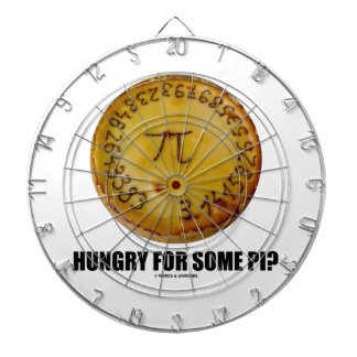 Hungry For Some Pi? (Pi On Baked Pie Humor) Dart Boards