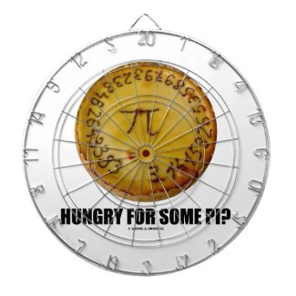 Hungry For Some Pi? (Pi On Baked Pie Humor) Dartboard With Darts