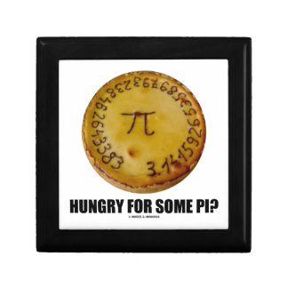 Hungry For Some Pi? (Pi On Baked Pie Humor) Jewelry Boxes