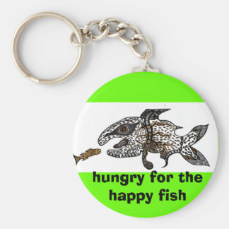 hungry for the happy fish key chains