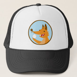 Hungry Foxy cute fox holding an egg Trucker Hat