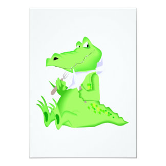 Hungry Gator 5x7 Paper Invitation Card