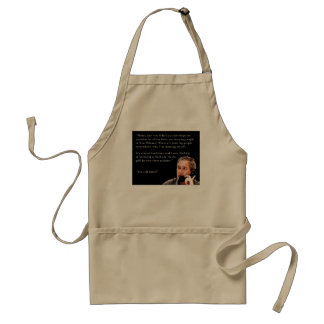 Hungry George W. Bush Adult Apron