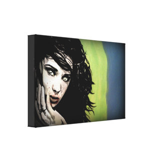 'Hungry Ghost' on a wrapped canvas Canvas Print