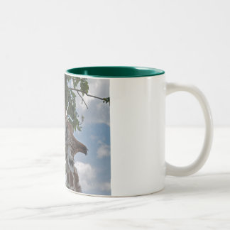 Hungry Giraffe Two-Tone Coffee Mug