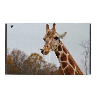 Hungry Giraffe Wild Animals Photo iPad Folio Case