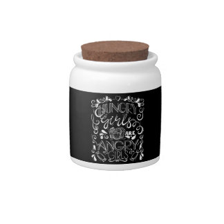 Hungry Girls are Angry Girls Candy Jar