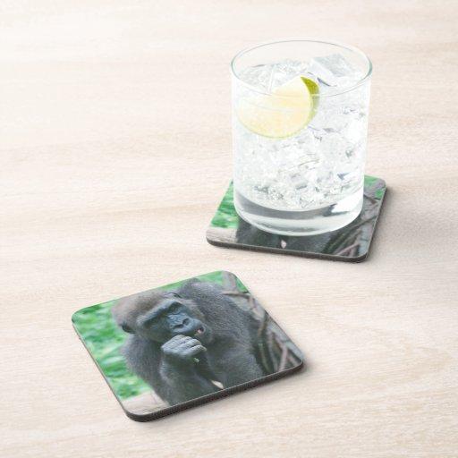 Hungry Gorilla Cork Coasters