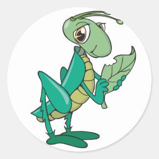 Hungry Grasshopper Classic Round Sticker