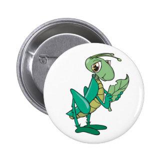 Hungry Grasshopper Pinback Button