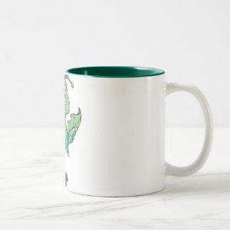 Hungry Grasshopper Two-Tone Coffee Mug