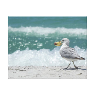 """""""Hungry Gull"""" Canvas Print"""