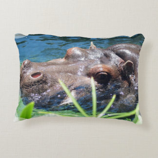 Hungry Hippo Accent Pillow