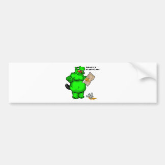 hungry hippo car bumper sticker