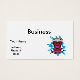 hungry hippo business card