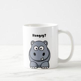 Hungry Hippo Cartoon Coffee Mug