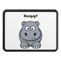 Hungry Hippo Cartoon Tow Hitch Cover
