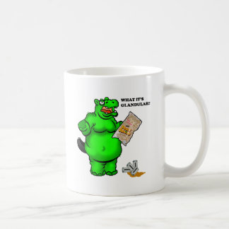 hungry hippo classic white coffee mug