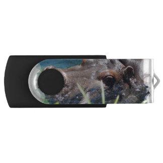 Hungry Hippo Swivel USB 2.0 Flash Drive