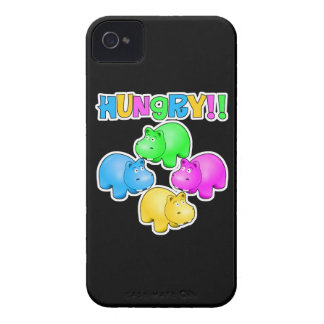 Hungry Hippopotamuses  Design iPhone 4 Case