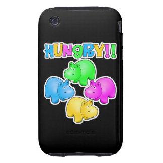 Hungry Hippopotamuses  Design Tough iPhone 3 Case