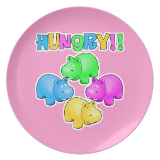 Hungry Hippopotamuses  Design Party Plates