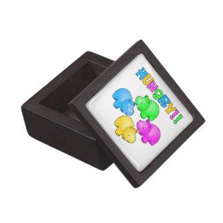 Hungry Hippopotamuses  Design Premium Keepsake Boxes