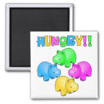 Hungry Hippos 2 Inch Square Magnet