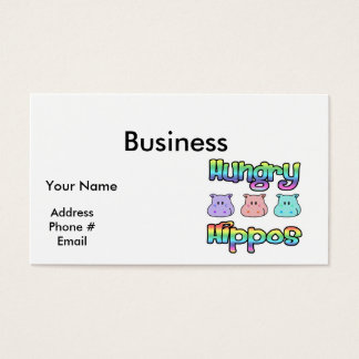 hungry  hippos business card