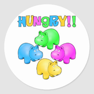 Hungry Hippos Classic Round Sticker