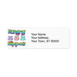 hungry  hippos label