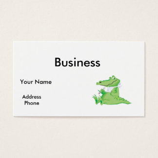 hungry hungry alligator business card