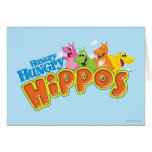 Hungry Hungry Hippos Greeting Cards