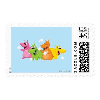 Hungry Hungry Hippos Postage Stamp