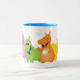 Hungry Hungry Hippos Two-Tone Coffee Mug
