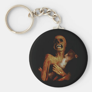 Hungry Hungry Zombie Basic Round Button Keychain