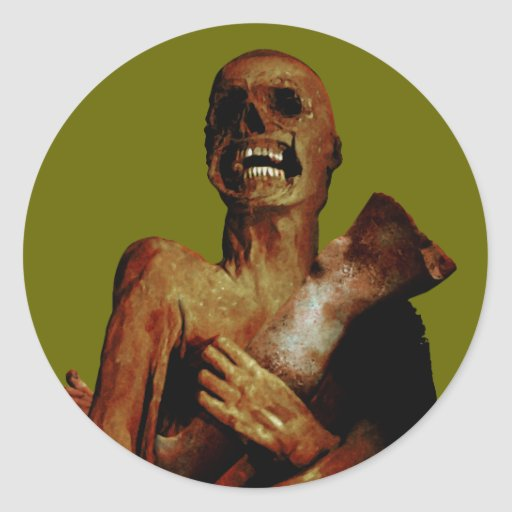 Hungry Hungry Zombie Classic Round Sticker