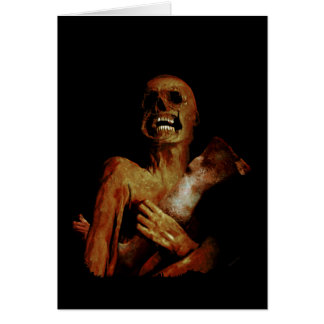 Hungry Hungry Zombie Greeting Card