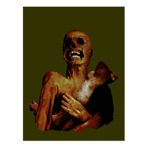 Hungry Hungry Zombie Postcard
