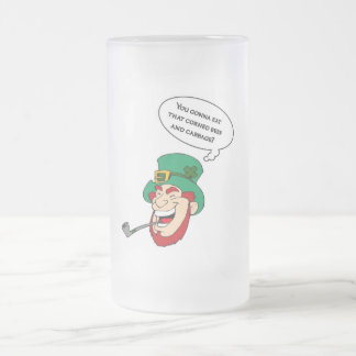 Hungry Leprechaun (St. Patrick's Day Special) Frosted Glass Beer Mug