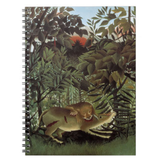 Hungry Lion by Henri Rousseau, Vintage Wild Animal Notebook