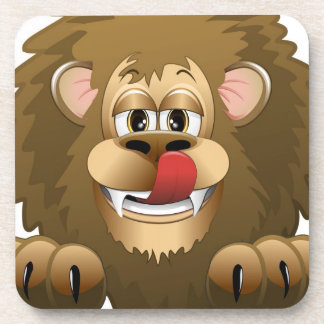 Hungry Lion Cartoon Drink Coasters