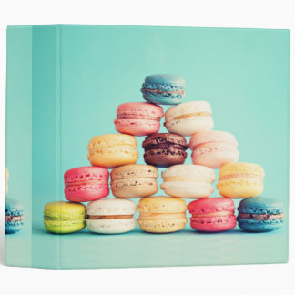 Hungry, Macaron, hipster,multicolor,sweets cookies 3 Ring Binder