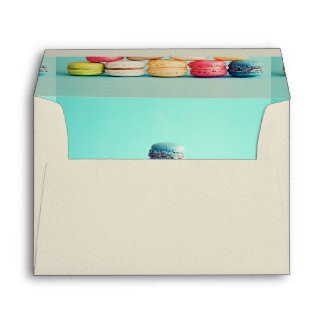Hungry, Macaron, hipster,multicolor,sweets cookies Envelope