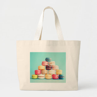 Hungry Macaron hipster,multicolor,sweets cookies Large Tote Bag