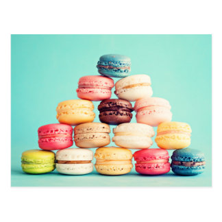 Hungry Macaron hipster,multicolor,sweets cookies Postcard