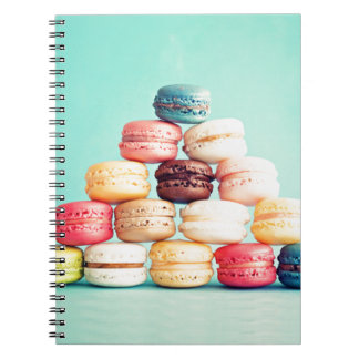 Hungry Macaron hipster,multicolor,sweets cookies Spiral Notebook