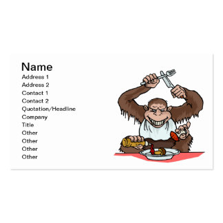 Hungry Monkey Business Card