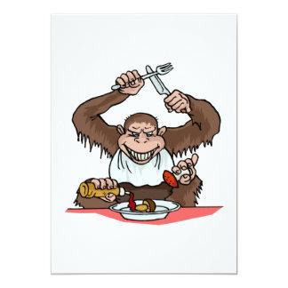 Hungry Monkey 5x7 Paper Invitation Card